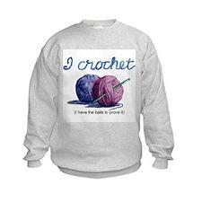 icrochetballs.JPG Sweatshirt