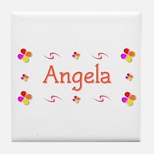 Angela 1 Tile Coaster