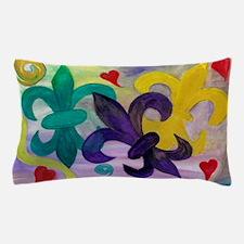 Mardi Gras Fleur de lis Pillow Case