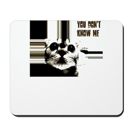 you dont know me cat crazy Mousepad