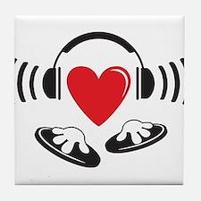 Love the DJ, love to DJ headphones design Tile Coa