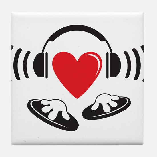 Love the DJ, love to DJ headphones design Tile Coa