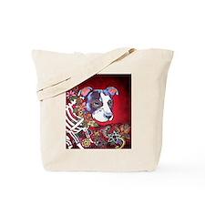 DiaLos Muertos dog Tote Bag