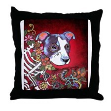 DiaLos Muertos dog Throw Pillow