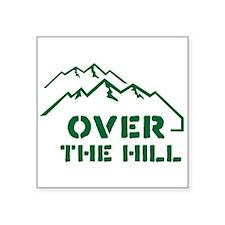 Over the hill mountain range design Sticker