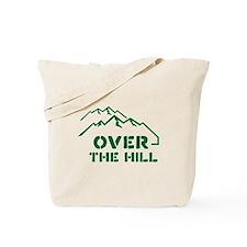 Over the hill mountain range design Tote Bag