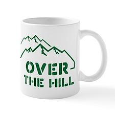 Over the hill mountain range design Small Mug