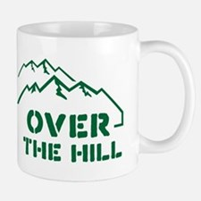 Over the hill mountain range design Small Small Mug