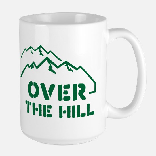 Over the hill mountain range design Mug