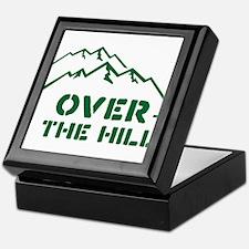 Over the hill mountain range design Keepsake Box