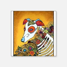 Dia Los Muertos, day of the dead, dog, Square Stic