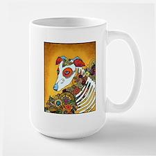 Dia Los Muertos, day of the dead, dog, Mug