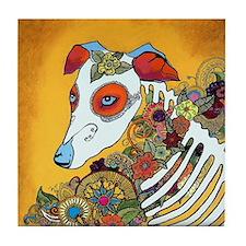 Dia Los Muertos, day of the dead, dog, Tile Coaste