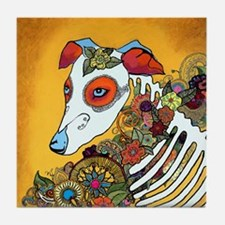 Dia Los Muertos, day of the dead, dog, Tile Coaste