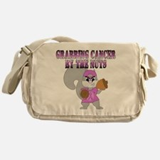 Grabbing cancer by the nuts Messenger Bag