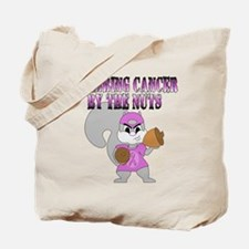 Grabbing cancer by the nuts Tote Bag