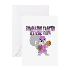 Grabbing cancer by the nuts Greeting Card