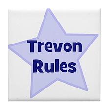 Trevon Rules Tile Coaster