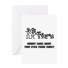 Anti Stick Figure Family Greeting Card