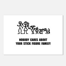 Anti Stick Figure Family Postcards (Package of 8)
