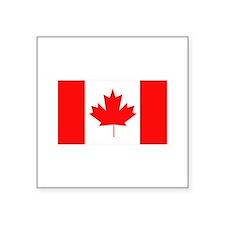"Flag of Canada Square Sticker 3"" x 3"""