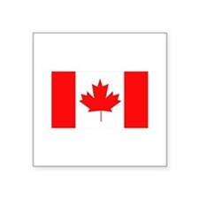 "Flag of Canada Square Sticker 3"" x 3"""
