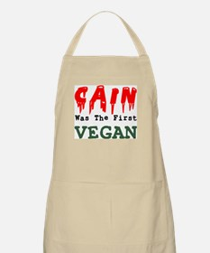 CAIN VEGAN = 1st MURDERER Cafe Press Apron