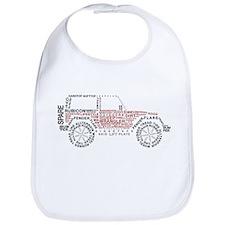 Jeep Wrangler Words Bib