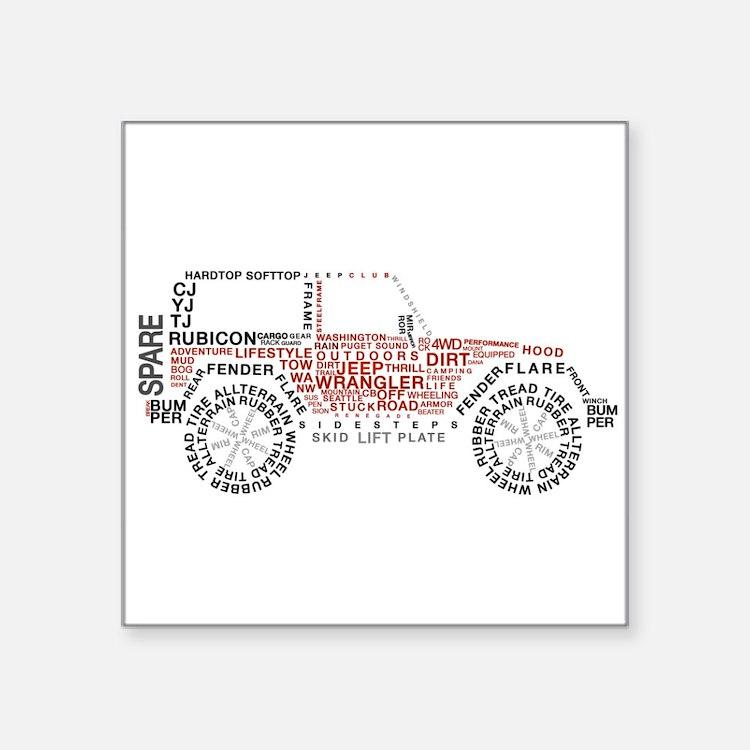 Jeep Wrangler Words Sticker