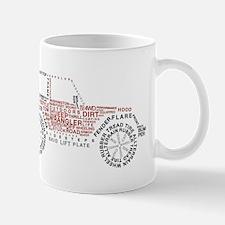 Jeep Wrangler Words Mug