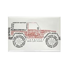 Jeep Wrangler Words Rectangle Magnet