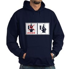 Funny Cambodia Toilet Sign! Hoodie