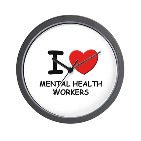 I love mental health workers Wall Clock