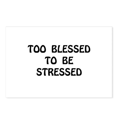 Blessed Stressed Postcards (Package of 8)