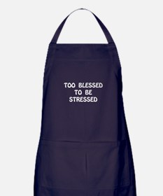 Blessed Stressed Apron (dark)