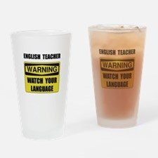English Teacher Drinking Glass