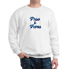 Divas Dudes Logo in blues Sweatshirt