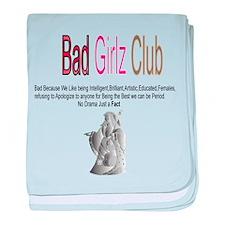 Bad Girlz Club 3 baby blanket