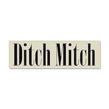 Ditch Mitch Car Magnet - Black on Gray