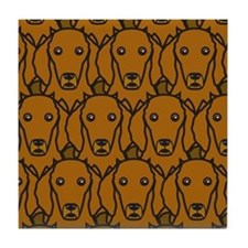 Long-Haired Dachshunds Tile Coaster