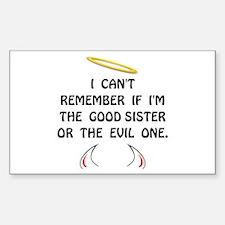Good Evil Sister Decal