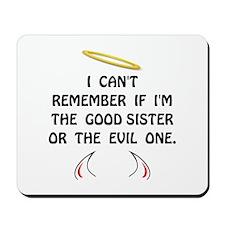 Good Evil Sister Mousepad