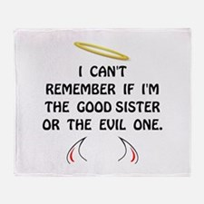 Good Evil Sister Throw Blanket