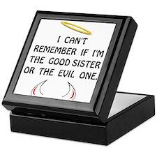 Good Evil Sister Keepsake Box