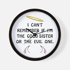 Good Evil Sister Wall Clock
