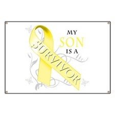 My Son is a Survivor (yellow) Banner