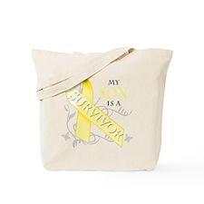 My Son is a Survivor (yellow) Tote Bag