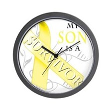 My Son is a Survivor (yellow) Wall Clock