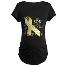 My Son is a Survivor (yellow) Maternity T-Shirt