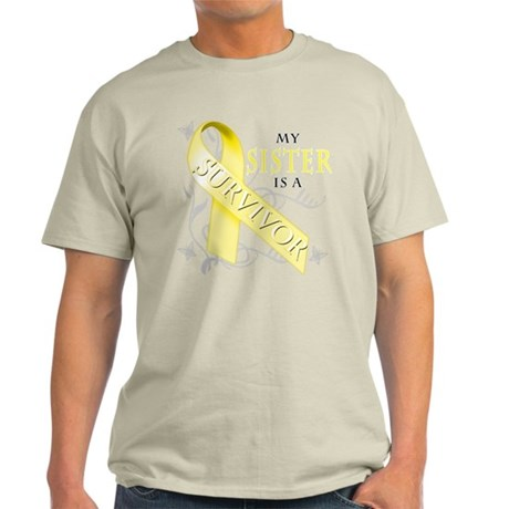 My Sister is a Survivor (yellow) T-Shirt